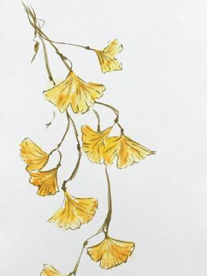 Autumn Gingko (vertical)