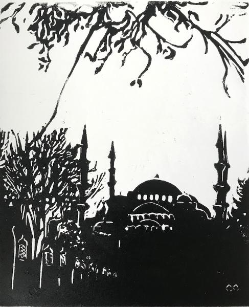Hagia Sophia Silhouette