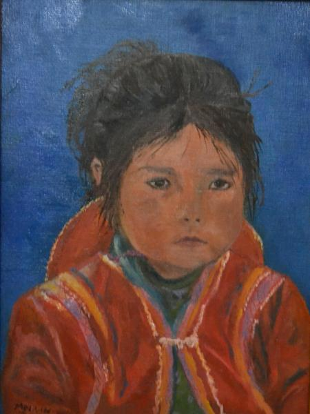 "*Peruvian Child 12""x9 """