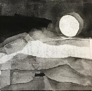 Mountain Moon monotype