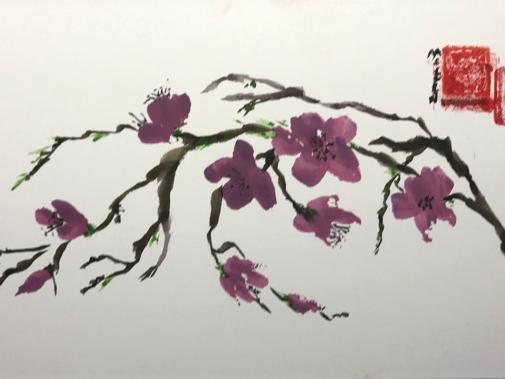 """12x16"""" Plum Blossom"""