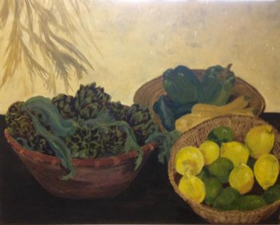 "Tuscan Table/Artichokes 24""x30"""
