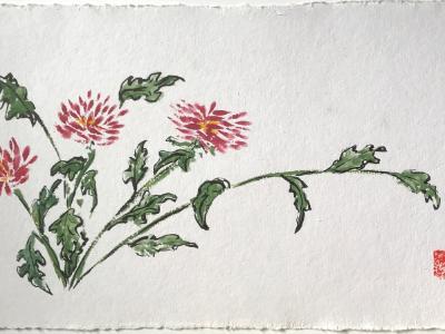 Garden Dahlias 20x28