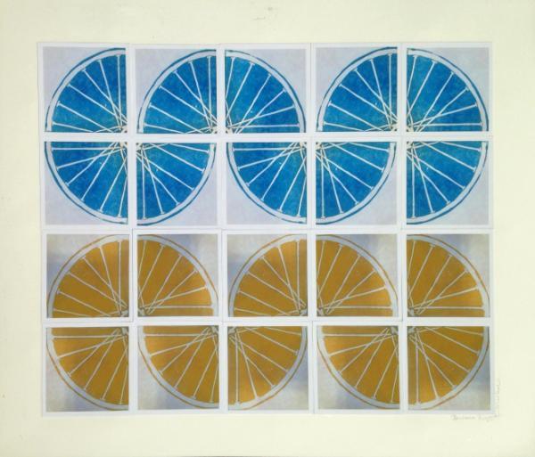 14 Freewheelin' FOURTEEN (yellow/blue 4sqx5sq/18x24)