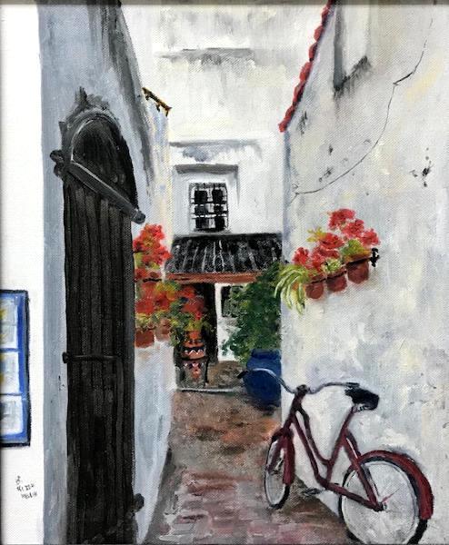 the Red Bike (Spain)   20x16