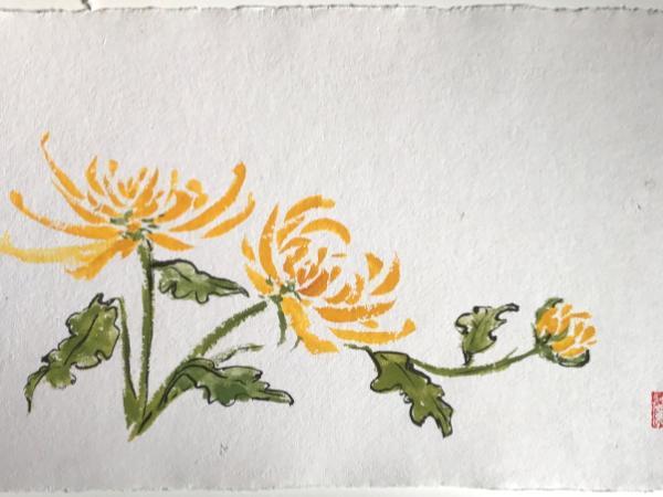 Yellow Mums 20x28, available through Artfolios
