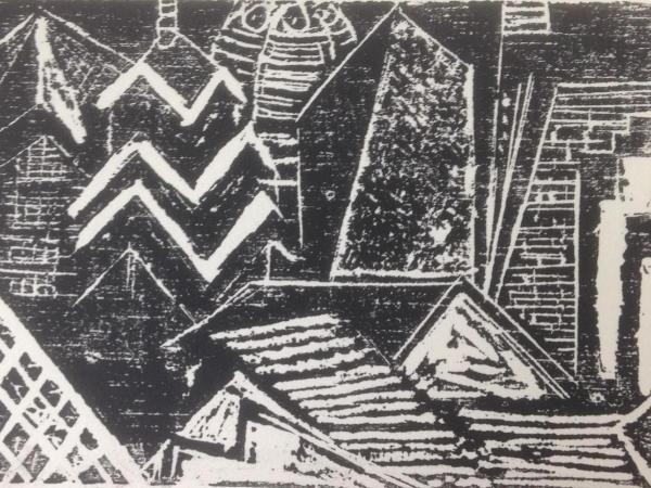 *   City Abstraction: Philadelphia   Woodcut