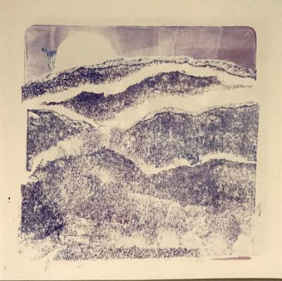 Purple Evening monoprint