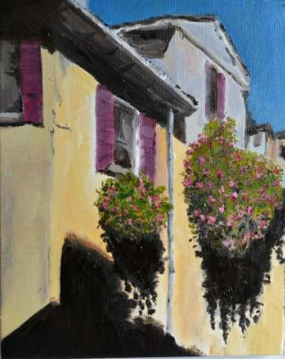 "Flowers, Venice 10""x8"" (sold)"
