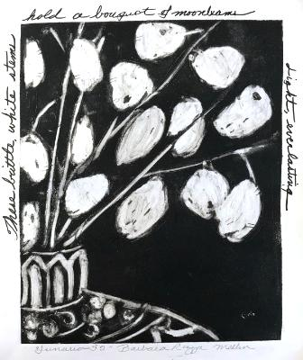 Lunaria 52: Bouquet of Moonbeams (Currently at Red Dog Gallery, Winston-Salem)