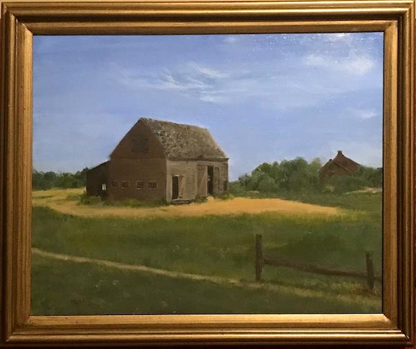"Martha's Vineyard Barn, 16""x20"""