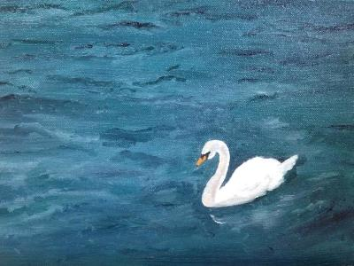 *Singular Beauty, Swan (Lake Lucerne, Switzerland) (Sold)